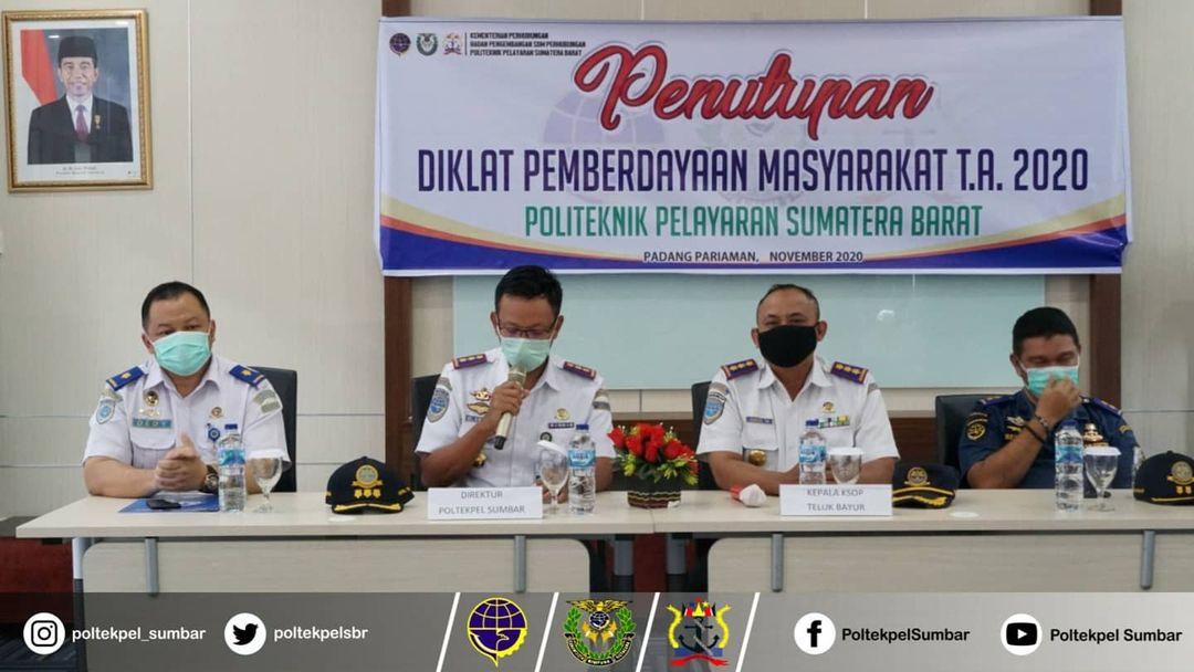 POLTEKPEL SUMBAR GELAR PENUTUPAN DIKLAT PEMBERDAYAAN MASYARAKAT (DPM) 2020